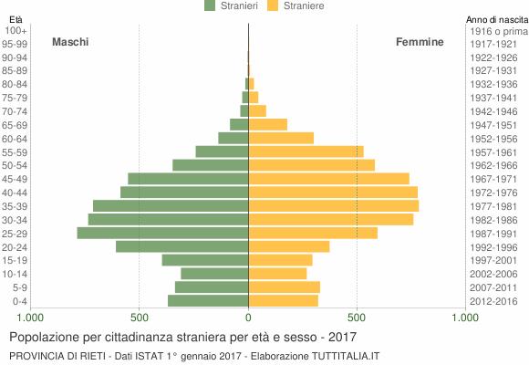 Grafico cittadini stranieri - 2017