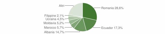 Grafico cittadinanza stranieri - Casarza Ligure 2019