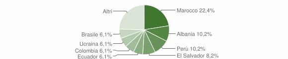 Grafico cittadinanza stranieri - Lumarzo 2011