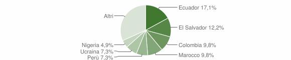 Grafico cittadinanza stranieri - Lumarzo 2014