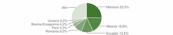 Grafico cittadinanza stranieri - Ceranesi 2011