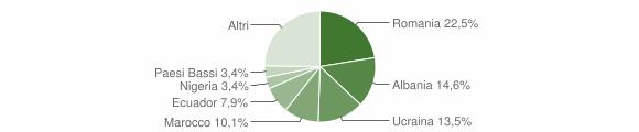 Grafico cittadinanza stranieri - Ceranesi 2017