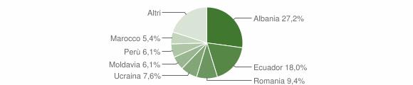 Grafico cittadinanza stranieri - Chiavari 2015