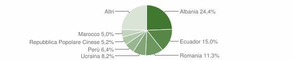 Grafico cittadinanza stranieri - Chiavari 2018