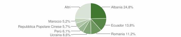 Grafico cittadinanza stranieri - Chiavari 2019