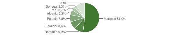 Grafico cittadinanza stranieri - Cicagna 2012