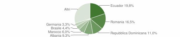 Grafico cittadinanza stranieri - Moneglia 2019