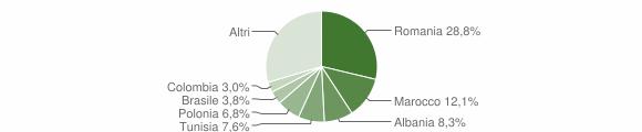 Grafico cittadinanza stranieri - Riccò del Golfo di Spezia 2019