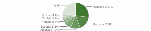 Grafico cittadinanza stranieri - Busalla 2016