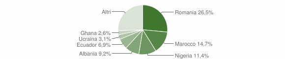 Grafico cittadinanza stranieri - Busalla 2019