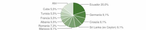 Grafico cittadinanza stranieri - Neirone 2009
