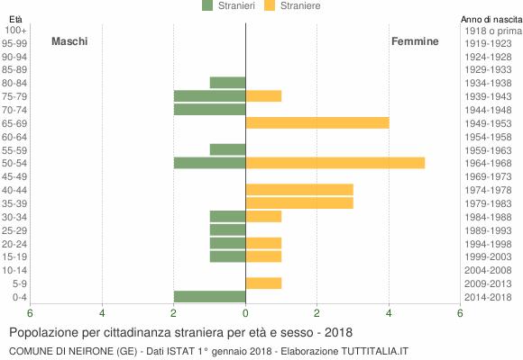Grafico cittadini stranieri - Neirone 2018