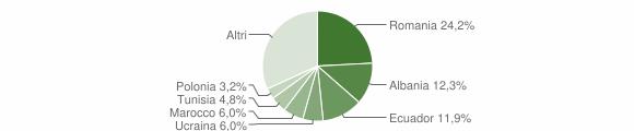 Grafico cittadinanza stranieri - Serra Riccò 2019
