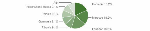 Grafico cittadinanza stranieri - Orero 2018