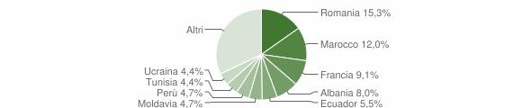 Grafico cittadinanza stranieri - Ospedaletti 2011
