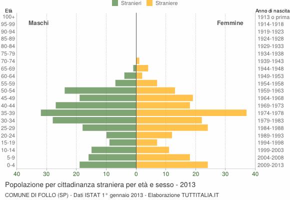 Grafico cittadini stranieri - Follo 2013