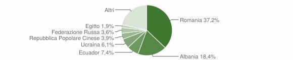 Grafico cittadinanza stranieri - Cogoleto 2016