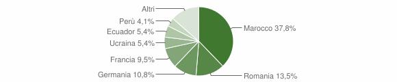 Grafico cittadinanza stranieri - San Biagio della Cima 2017