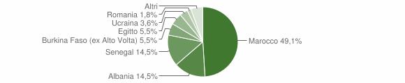 Grafico cittadinanza stranieri - Barghe 2007