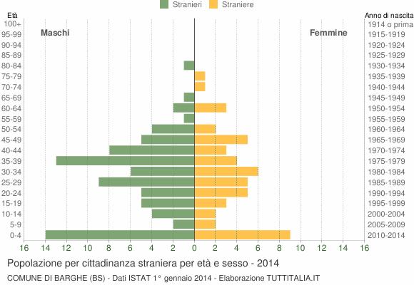 Grafico cittadini stranieri - Barghe 2014