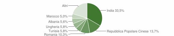 Grafico cittadinanza stranieri - Castellucchio 2011