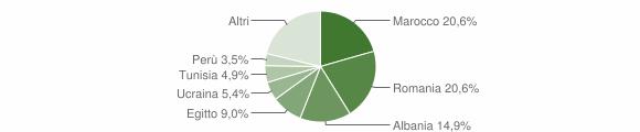 Grafico cittadinanza stranieri - Cislago 2019