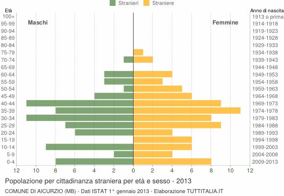 Grafico cittadini stranieri - Aicurzio 2013