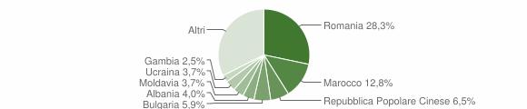 Grafico cittadinanza stranieri - Caponago 2017