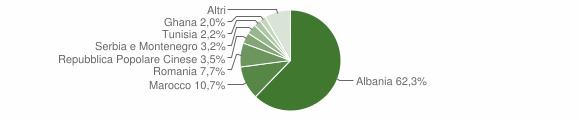 Grafico cittadinanza stranieri - Castelcovati 2006