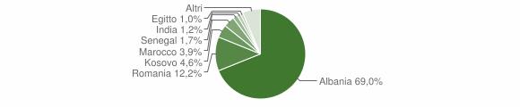 Grafico cittadinanza stranieri - Castelcovati 2018