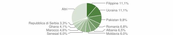 Grafico cittadinanza stranieri - Cellatica 2012