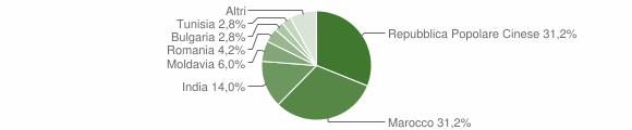 Grafico cittadinanza stranieri - Magnacavallo 2011