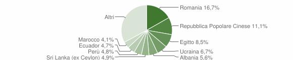 Grafico cittadinanza stranieri - Trezzano sul Naviglio 2019