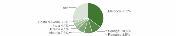 Grafico cittadinanza stranieri - Bulciago 2019