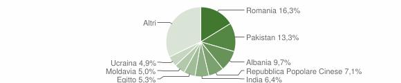 Grafico cittadinanza stranieri - Roncadelle 2019