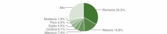 Grafico cittadinanza stranieri - Cambiago 2019