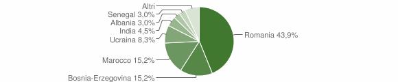 Grafico cittadinanza stranieri - Cedegolo 2010