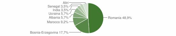 Grafico cittadinanza stranieri - Cedegolo 2012