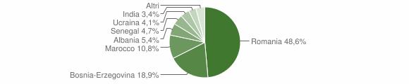 Grafico cittadinanza stranieri - Cedegolo 2014