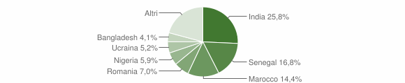 Grafico cittadinanza stranieri - Gambara 2019