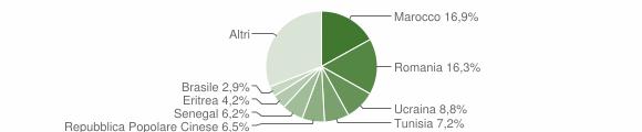 Grafico cittadinanza stranieri - Zogno 2015