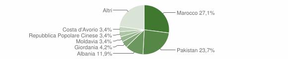 Grafico cittadinanza stranieri - Bovegno 2008