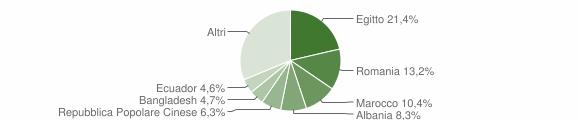 Grafico cittadinanza stranieri - Casalpusterlengo 2018