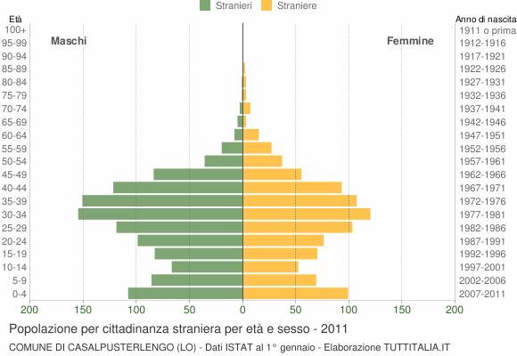 Grafico cittadini stranieri - Casalpusterlengo 2011