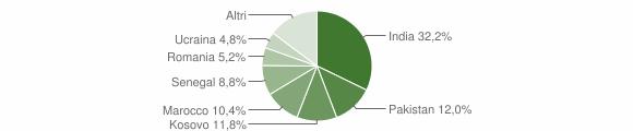 Grafico cittadinanza stranieri - Chiuduno 2019