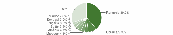 Grafico cittadinanza stranieri - Godiasco Salice Terme 2019