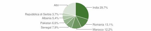 Grafico cittadinanza stranieri - Mairano 2013