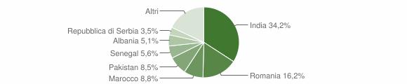 Grafico cittadinanza stranieri - Mairano 2017