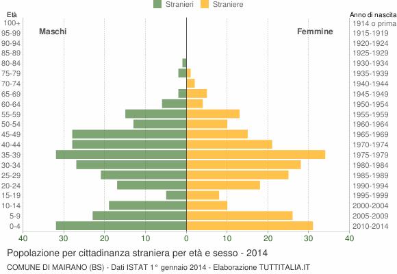 Grafico cittadini stranieri - Mairano 2014