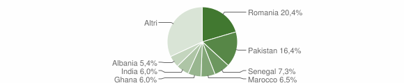 Grafico cittadinanza stranieri - Ospitaletto 2019